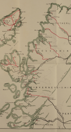 West Highlands & Islands Commission map, 1890